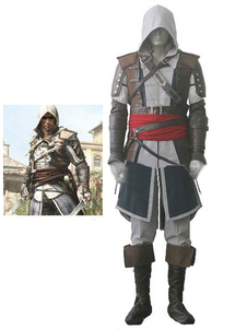 Carnaval Inspirado Por Assassin's Creed IV Negro Flag Edward James Kenway Halloween Disfraz de Cosplay 2020