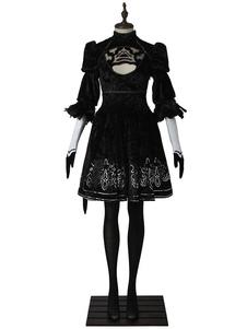 Nier Automata 2B YoRHa No.2 Tipo B Halloween Cosplay Costume Deluxe Edition Halloween