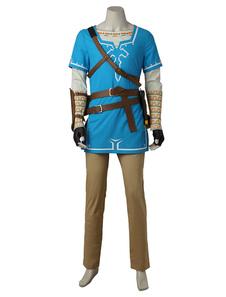 The Legend Of Zelda Breath Of The Wild Link Cosplay Costume Halloween