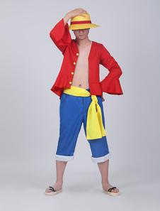 Один кусок Луффи косплей костюм набор Хэллоуин