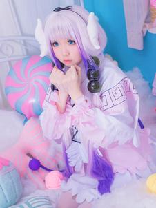 Disfraz Carnaval Disfraz Miss Kobayashi's Dragon Maid de algodón mezclado para mujer con chal&con falda&con adorno para la cabeza Halloween Carnaval