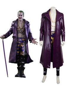 Carnaval Suicide Squad Joker 2020 Disfraz de Halloween Cosplay Edición de lujo en 4 piezas