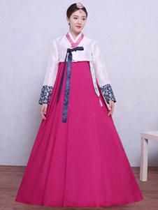 النساء زي الكورية الهانبوك هالوين زي الآسيوية