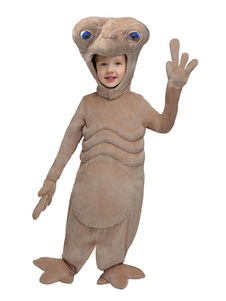 Alien Costume Kids Taupe Jumpsuit Halloween