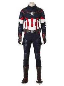 Мстители: Age Of Ultron Captain Американский Стив Роджерс Хэллоуин Косплей Костюм Хэллоуин