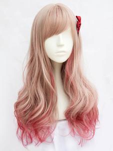 Peluca de Lolita de rayón Color de lino