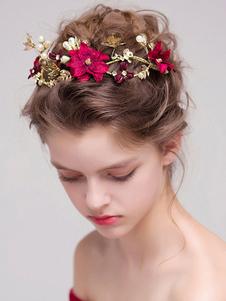 Tiara no cabelo de metal para mulher acessórios para a cabeça acessórios vermelha Não personalizado