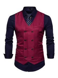 Бюстгальтер с капюшоном с капюшоном Мужская жилетка с курткой V с длинным рукавом с длинным рукавом без рукавов