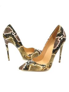 Scarpe con tacco alto 2020  da donna Scarpe con tacco a punta con stampa serpente a punta