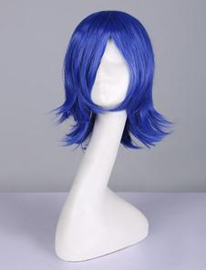 Carnaval Peluca de cosplay de fibra resistente al calor de Juvia Lockser de Fairy TailCosplay azul con peluca