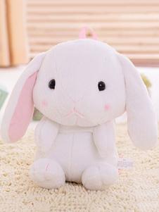 الحلو لوليتا حقيبة الظهر فو الفراء لطيف الأرنب القطيفة حقيبة الكتف الأبيض