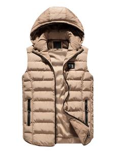 Jaqueta & casaco de neve de algodão Normal Ajuste Slim Com Capuz térmica de poliéster