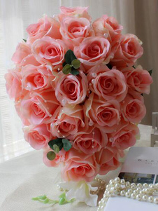 زهرة باقة الزفاف أشرطة الحرير المتتالية باقات الزفاف