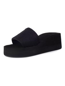 Infradito & Pantofole da Donna donna casuale aperto zeppa tacco medio(5.08-7.62cm)