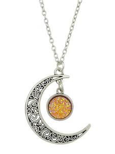 Moon Pendant Necklace Joyería de mujer regalo de San Valentín