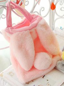 Sweet Lolita Handbag Cute Bunny Ear Faux Fur Pink Lolita Bag
