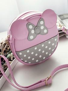 الحلو لوليتا حقيبة الحيوان تصميم القوس طباعة اثنين لهجة بو الوردي لوليتا حقيبة الكتف