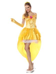 Costume Carnevale Cosplay sexy giallo per donno
