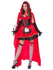 Capuz Vermelho feminina poli/mistura de algodão color block conjunto vermelha de cetim de mat para adultos