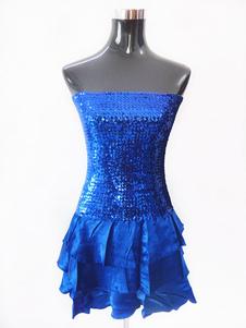 Vestido de Fantasia de dança Atuação color block de Chiffon de fibra poliéster