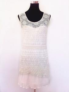 Vestido 2020 Gatsby vestido traje 1920's Flapper vestido branco Vintage