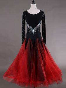 Roupa de Dança de salão de fibra poliéster vestido conjunto