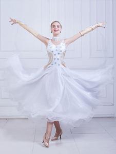 قاعة الرقص زي المرأة الأورجانزا الديكور ممارسة فساتين الرقص