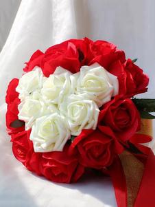 الزفاف باقة الأحمر الحبيب روز الشريط الزفاف اليد الزهور باقات
