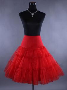 Свадебная короткая петтикот Красная юбка-органза 3 многоуровневая свадебная кринолинная юбка
