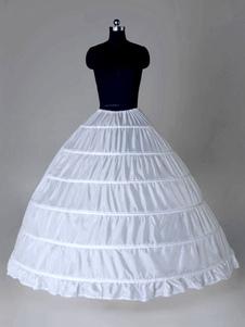 عرس ثوب نسائي طويل ثوب أبيض كامل 6 هوب العرسان القرينولول زلة