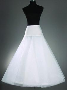 Enagua de la boda blanco 2 con gradas una línea falda de crinolina nupcial Slip