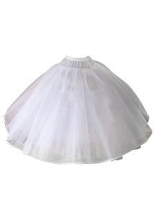 ثوب نسائي الزفاف الأبيض التنورة القرينول قماش قطني تنورة تول الزفاف تحتية
