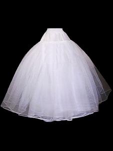 Enagua de la boda blanca Tulle Crinolina falda de la falda Slip