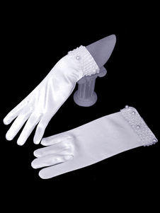 Guanti da sposa lycra spandex perline lunghezza del Polso per adulti