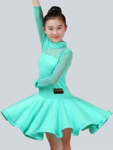Латинский танцевальный костюм Mint Green Kids Бальные платья для девочек