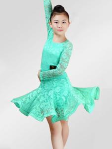 Платья для танцев на танцах Латинские танцы Костюмы для детей с длинными рукавами