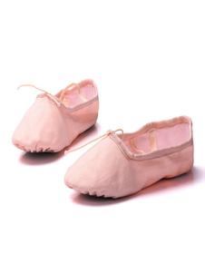 Балетная танцевальная обувь Холст круглый Toe Criss Cross Танцевальная обувь для детей