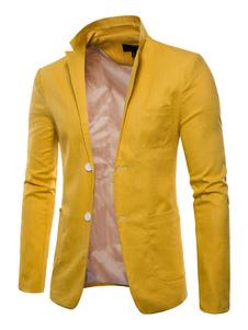 Blazer da Uomo 2020 Casual Giacca con Bottoni Sul Davanti Giacca Regulare VestibilitÀ Slim Blazer Primavera