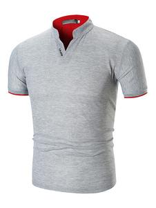 Maglietta Da Uomo 2020 A Maniche Corte T-Shirt Da Uomo Slim Fit A Polo
