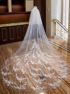 الحجاب الزفاف الكاتدرائية العاج الشلال الرباط زين 2 الطبقة الطويلة الزفاف اكسسوارات الشعر الحجاب