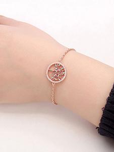 Bracelets do ouro que Wedding o bracelete da zircônia cúbica da árvore do desejo para mulheres