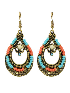 Boho Dangle Brincos Oco Out Drop Earrings