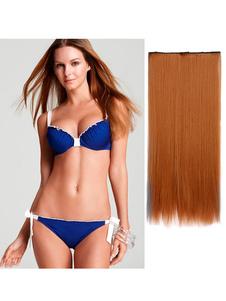 Le estensioni dei capelli delle donne hanno stratificato la fetta lunga dei capelli diritti