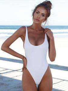 One Piece Swimsuit U Neck Backless Sexy Swimwear