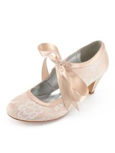 أحذية الزفاف الشمبانيا الرباط جولة تو الرباط حتى أحذية العروسة