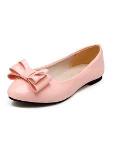 Mujer Zapatos de Ballet Plano 2020 Zapatos con Punta Puntiguada Bow Ponerse Zapatos de Talla Grye Casual Zapatos