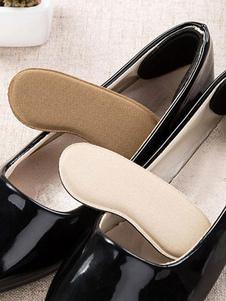 Calcanhar de mulher apertos almofadas de sapatos de damasco