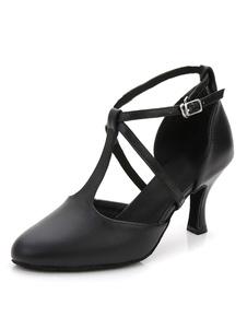 أحذية الرقص اللاتينية أحذية سوداء أحذية بول تو تي 1920s أحذية الرقص خمر 2020