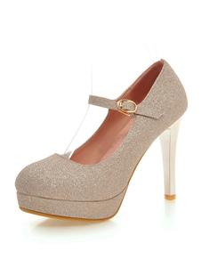 Scarpe col tacco alto da donna con tacco a spillo scarpe con tacco a punta Mary Jane