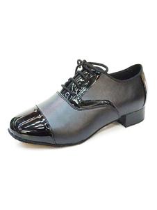 Мужская обувь для танцев Черная круглая носовая рубашка